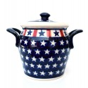 Polish Pottery AMERICANA 4.25-Cup Stoneware Canister | CLASSIC