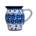 Polish Pottery MOD FLORAL 3-Cup Stoneware Pitcher (SM) | ARTISAN