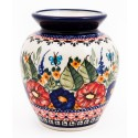 "Polish Pottery BUTTERFLY MERRY MAKING 5"" Stoneware Vase 