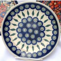 "Polish Pottery 7.75"" EYE OF THE PEACOCK Stoneware Salad Plate 