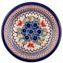 Polish Pottery STRAWBERRY BUTTERFLY 6.5-inch Stoneware Bread & Butter Plate | UNIKAT
