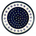 "Polish Pottery 7.75"" FLURRY OF JOY Stoneware Salad Plate 