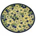 "Polish Pottery BLUE CITRINE 7.75"" Stoneware Salad Plate | UNIKAT"
