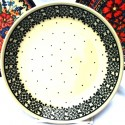 "Polish Pottery TRENDY TIMES 7.75"" Stoneware Salad Plate 