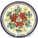 "Polish Pottery WARM GLORY 11"" Stoneware Dinner Plate 