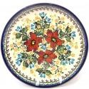 "Polish Pottery WARM GLORY 11"" Stoneware Dinner Plate | EX-UNIKAT"