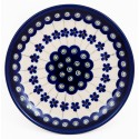 Polish Pottery FLOWERING PEACOCK 6.5-inch Bread & Butter Stoneware Plate | CLASSIC