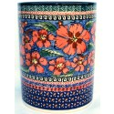 "Polish Pottery CHERISHED FRIENDS 7"" Stoneware Utensil Jar 