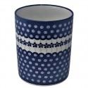 "Polish Pottery FLOWERING PEACOCK 7"" Stoneware Utensil Jar | CLASSIC"