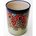 "Polish Pottery CHAMPAGNE 7"" Stoneware Utensil Jar | UNIKAT"