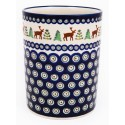 "Polish Pottery CARIBOU LODGE 7"" Stoneware Utensil Jar 