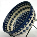 Polish Pottery FLOWERING PEACOCK 21oz Stoneware Chili Bowl | CLASSIC