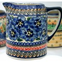 Polish Pottery BLUE PANSY .7L Cylinder Pitcher | UNIKAT