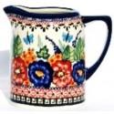 Polish Pottery .7L BUTTERFLY MERRYMAKING Stoneware Cylinder Pitcher | UNIKAT