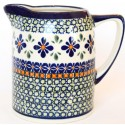 Polish Pottery SWEETIE PIE .7L Cylinder Stoneware Pitcher | ARTISAN
