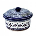 Polish Pottery SWEETIE PIE 1-Liter Stoneware Covered Casserole Baker | ARTISAN