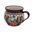 Polish Pottery BUTTERFLY MERRY MAKING 16-oz Stoneware Bubble Mug | UNIKAT