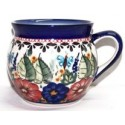 Polish Pottery BUTTERFLY MERRY MAKING 10.8-oz Stoneware Bubble Mug | UNIKAT