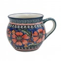 Polish Pottery CHERISHED FRIENDS 10-oz Stoneware Bubble Mug | UNIKAT