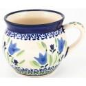 Polish Pottery BLUE TULIP 10-oz Bubble Mug | UNIKAT