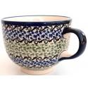 Polish Pottery CELEBRATE 17-oz Cappuccino-Soup Stoneware Cup |CLASSIC