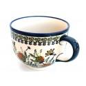 Polish Pottery WISHFUL 17-oz Cappuccino-Soup Stoneware Cup | ARTISAN