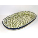 "Polish Pottery BACOPA 15"" Serving Stoneware Platter 