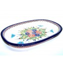 "Polish Pottery BUTTERFLY MERRY MAKING 15"" Serving Stoneware Platter 