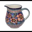 Polish Pottery CHERISHED FRIENDS 1.7-Cup Stoneware Pitcher | UNIKAT