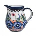 Polish Pottery STRAWBERRY BUTTERFLY 1.7-Cup Stoneware Pitcher | UNIKAT
