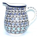 Polish Pottery ELEGANT BLUE 3.6-Cup Stoneware Pitcher | CLASSIC