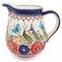 Polish Pottery BUTTERFLY MERRY MAKING 1.7 Cup Stoneware Pitcher | UNIKAT