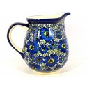 Polish Pottery 3.6 Cup BLUE LAGOON Pitcher | UNIKAT