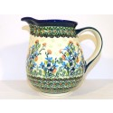 Polish Pottery SEA GARDEN 3.6-Cup Stoneware Pitcher | ARTISAN