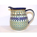 Polish Pottery ENCHANTING 3.6-Cup Stoneware Pitcher | ARTISAN