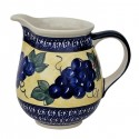 Polish Pottery GRAPES 3.6-Cup Stoneware Pitcher | ARTISAN