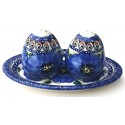 Pottery Avenue BLUE PANSY Salt And Pepper Set | UNIKAT