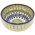 Polish Pottery ENCHANTING 2-Cup Stoneware Cereal-Salad Bowl | ARTISAN