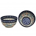 Polish Pottery HERITAGE HOME 2-Cup Stoneware Cereal-Salad Bowl | CLASSIC
