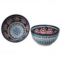 Polish Pottery PASSION 2-Cup Stoneware Cereal-Salad Bowl | UNIKAT