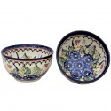 Polish Pottery STRAWBERRY BUTTERFLY 2-Cup Stoneware Cereal-Salad Bowl | UNIKAT