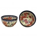 Polish Pottery LOVE BLOSSOMS 2-Cup Stoneware Cereal-Salad Bowl | EX-UNIKAT