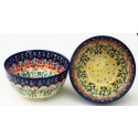 Polish Pottery FLOWERING SPLENDOR 2-Cup Stoneware Cereal-Salad Bowl | UNIKAT