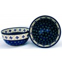Polish Pottery FLURRY OF JOY 2-Cup Stoneware Cereal-Salad Bowl | CLASSIC