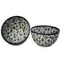 Polish Pottery BACOPA 2-Cup Stoneware Cereal-Salad Bowl | UNIKAT