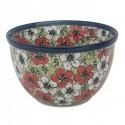 Polish Pottery RED BACOPA 4-Cup Stoneware Mixing Bowl   UNIKAT