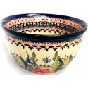 Polish Pottery BUTTERFLY MERRY MAKING 4-Cup Stoneware Mixing Bowl | UNIKAT