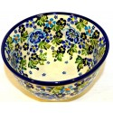 "Polish Pottery 6"" TRUE BLUES Mixing Bowl 