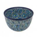 Polish Pottery BLUE LAGOON 9-Cup Stoneware Mixing Bowl | UNIKAT
