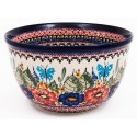 "Polish Pottery 8"" BUTTERYFLY MERRYMAKING Mixing Bowl 